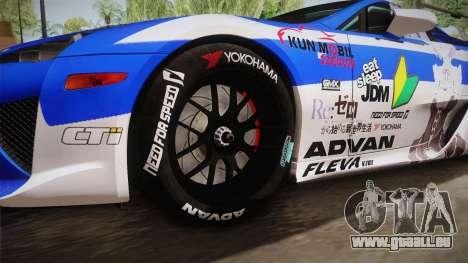 Lexus LFA Rem The Blue of ReZero pour GTA San Andreas vue arrière