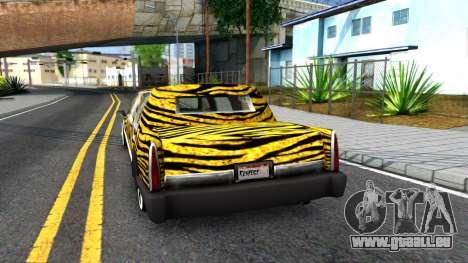 STReTTTcH LoWriDEr pour GTA San Andreas sur la vue arrière gauche