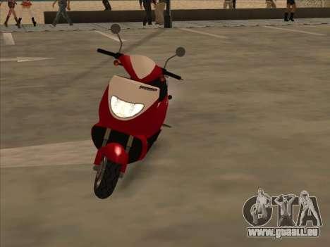 GTA IV Faggio pour GTA San Andreas sur la vue arrière gauche