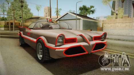 GTA 5 Vapid Peyote Batmobile 66 IVF für GTA San Andreas rechten Ansicht