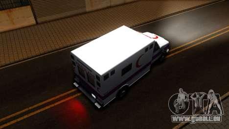 Ambulance Malaysia für GTA San Andreas Rückansicht