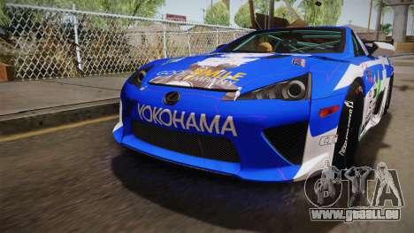Lexus LFA Rem The Blue of ReZero pour GTA San Andreas vue de côté