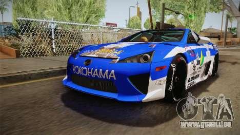 Lexus LFA Rem The Blue of ReZero pour GTA San Andreas sur la vue arrière gauche