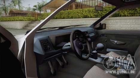 Ford Sierra Tournier 2.3D CL 1988 pour GTA San Andreas vue intérieure
