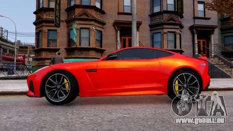 Jaguar F-Type SVR v1.0 2016 für GTA 4 linke Ansicht