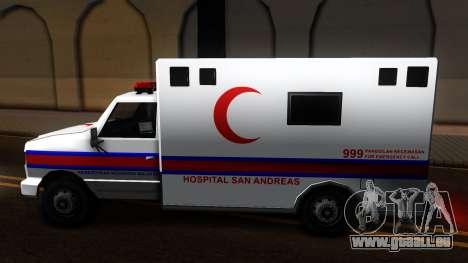 Ambulance Malaysia für GTA San Andreas linke Ansicht