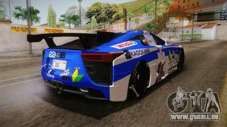 Lexus LFA Rem The Blue of ReZero pour GTA San Andreas vue de droite
