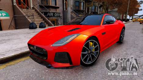 Jaguar F-Type SVR v1.0 2016 für GTA 4 rechte Ansicht