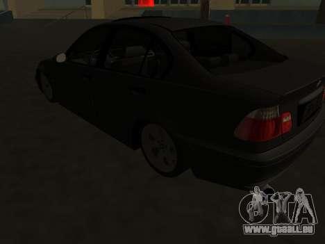 BMW 320i Armenian für GTA San Andreas Rückansicht