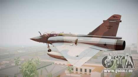 EMB Dassault Mirage 2000-N FAB pour GTA San Andreas laissé vue