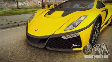 Spania GTA Spano 2016 für GTA San Andreas