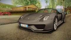 Porsche 918 Spyder 2013 Weissach Package EU pour GTA San Andreas