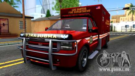 GTA V Vapid Sadler Ambulance pour GTA San Andreas