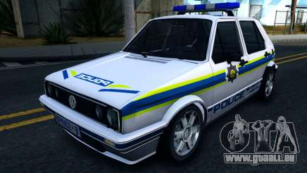 Volkswagen Golf White South African Police pour GTA San Andreas
