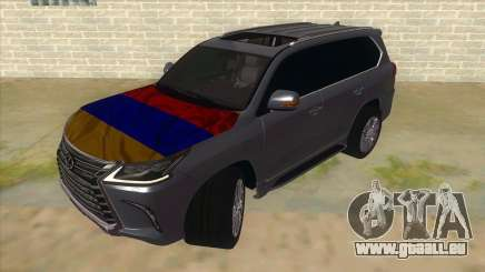 Lexus LX570 2016 Armenian für GTA San Andreas