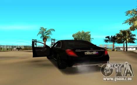 Mercedes-Benz S-Class für GTA San Andreas zurück linke Ansicht