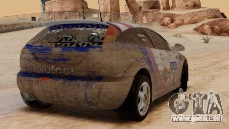 Ford Focus Touring Car für GTA San Andreas Rückansicht