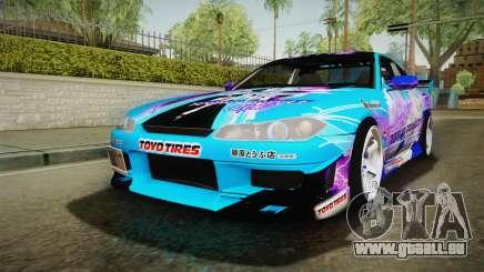 Nissan Silvia S15 Cirno Touho Project Itasha pour GTA San Andreas