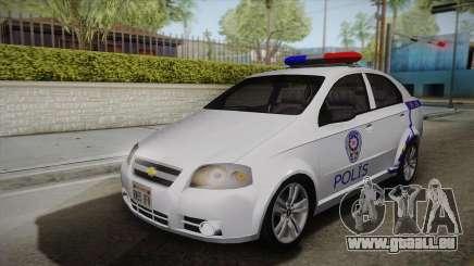 Chevrolet Aveo Turkish Police für GTA San Andreas