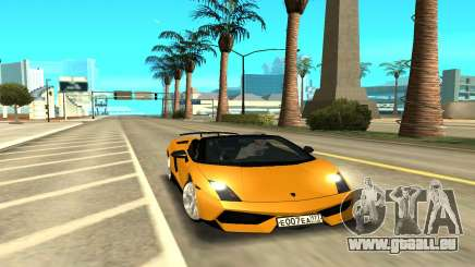 Lamborghini Gallardo жёлтый pour GTA San Andreas