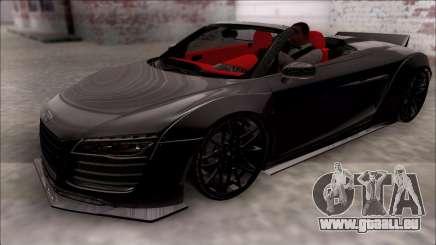 Audi R8 Spyder 5.2 V10 Plus LB Walk pour GTA San Andreas