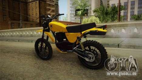 GTA 5 Dinka Enduro SA Style pour GTA San Andreas sur la vue arrière gauche