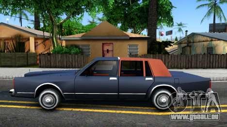 Lincoln Town Car 1981 pour GTA San Andreas laissé vue
