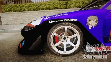 Nissan Silvia S15 Uras D1GP Mika Girl und Panzer pour GTA San Andreas sur la vue arrière gauche