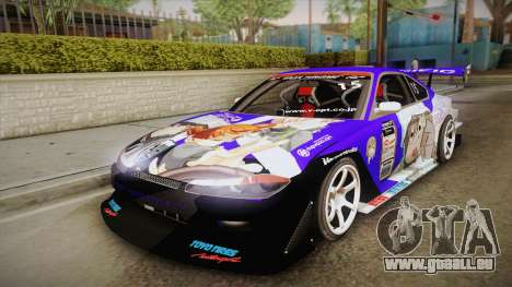 Nissan Silvia S15 Uras D1GP Mika Girl und Panzer pour GTA San Andreas