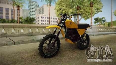 GTA 5 Dinka Enduro SA Style pour GTA San Andreas vue de droite