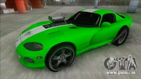 Dodge Viper GTS Drag für GTA San Andreas Rückansicht