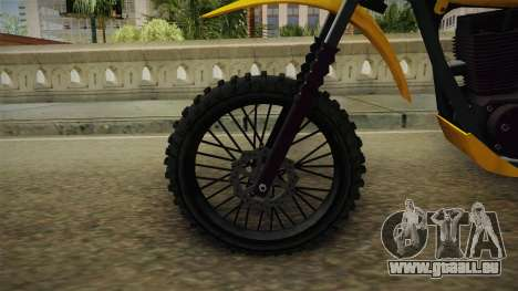 GTA 5 Dinka Enduro SA Style pour GTA San Andreas vue arrière