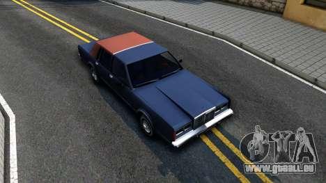 Lincoln Town Car 1981 pour GTA San Andreas vue de droite