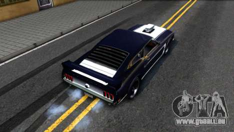 Ford Mustang Boss 557 pour GTA San Andreas vue arrière