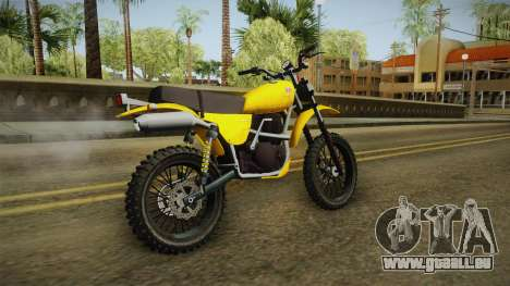 GTA 5 Dinka Enduro SA Style pour GTA San Andreas laissé vue