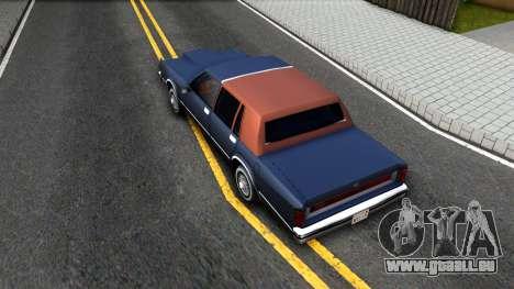 Lincoln Town Car 1981 pour GTA San Andreas vue arrière