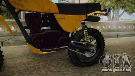 GTA 5 Dinka Enduro SA Style pour GTA San Andreas vue intérieure