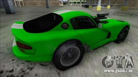 Dodge Viper GTS Drag für GTA San Andreas linke Ansicht
