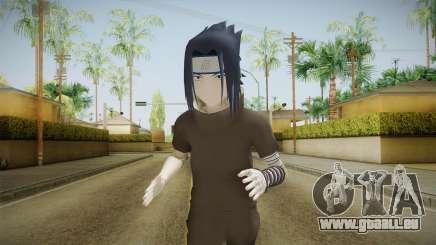 NUNS4 - Sasuke Genin Black Clothes Normal Eyes für GTA San Andreas