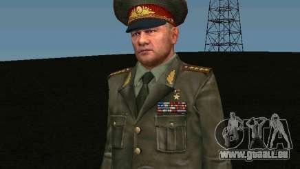 Général de l'armée de terre pour GTA San Andreas