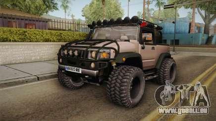 Hummer Wrangler H2 pour GTA San Andreas