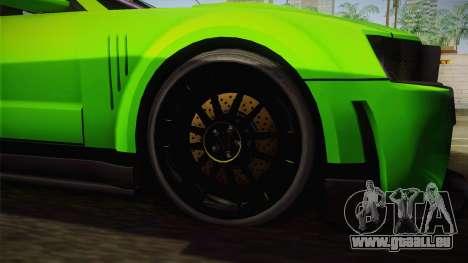 Ford Mustang NFS Green pour GTA San Andreas vue de droite