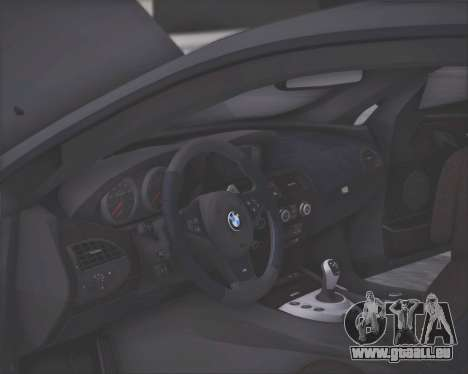 BMW M6 G-Power Hurricane RR pour GTA San Andreas vue de dessus