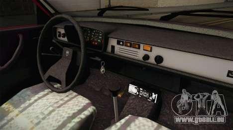 Dacia 1310 TX 1985 für GTA San Andreas Innenansicht