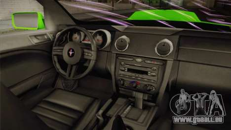 Ford Mustang NFS Green pour GTA San Andreas vue arrière