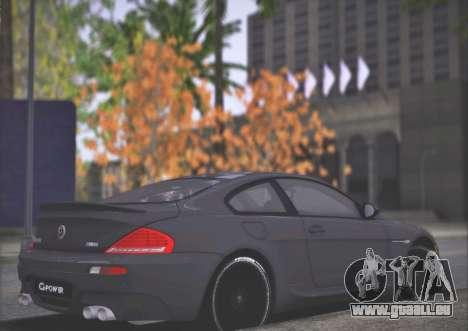 BMW M6 G-Power Hurricane RR pour GTA San Andreas vue arrière
