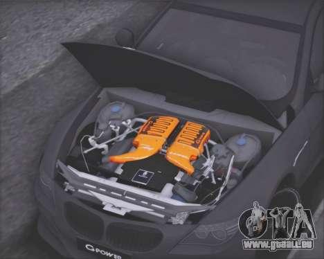BMW M6 G-Power Hurricane RR pour GTA San Andreas vue intérieure