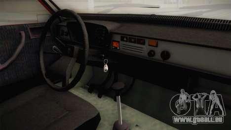 Dacia 1310 GPL für GTA San Andreas Innenansicht