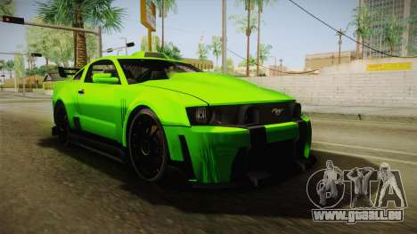 Ford Mustang NFS Green pour GTA San Andreas