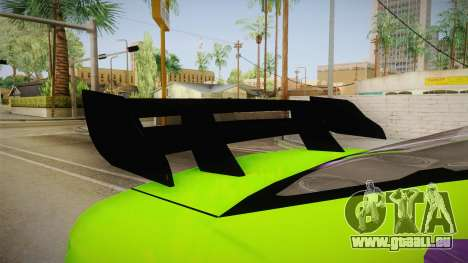 Ford Mustang NFS Green pour GTA San Andreas vue intérieure